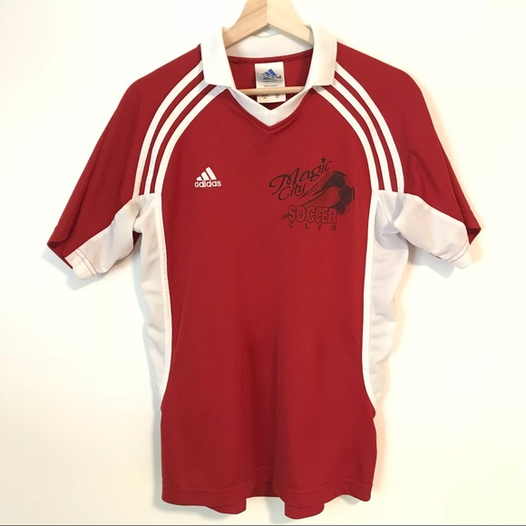cheaper a9ec3 52c55 adidas Other - 70s 80s Adidas Red Soccer Athletic Jersey